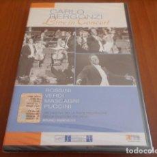 Vídeos y DVD Musicales: DVD-CARLO BERGONZI-LIVE IN CONCERT-PRECINTADO. Lote 142549738