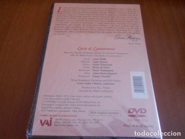 Vídeos y DVD Musicales: DVD-ANNA MOFFO LUCIA DI LAMMERMOOR-PRECINTO ROTO,VER FOTOS - Foto 4 - 142563870