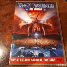 Vídeos y DVD Musicales: IRON MAIDEN - EN VIVO - LIVE AT ESTADIO NACIONAL SANTIAGO - 2 DVD - 2012. Lote 142786714