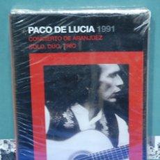 Vídeos y DVD Musicales: PACO DE LUCIA. CONCIERTO DE ARANJUEZ. SOLO, DUO, TRIO. DVD NUEVO. Lote 144020154