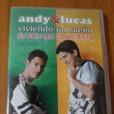 Vídeos y DVD Musicales: ANDY & LUCAS DVD SU PRIMER CONCIERTO VIVIENDO UN SUEÑO + 5€ DE ENVIO N.C.. Lote 144049948
