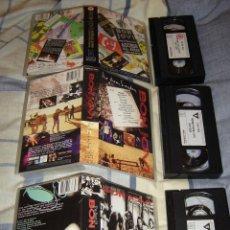Vídeos y DVD Musicales: BON JOVI LOTE 3 CINTAS VHS ORIGINALES -EUROPE-IRON MAIDEN (COMPRA MINIMA 15 EUROS). Lote 144102410