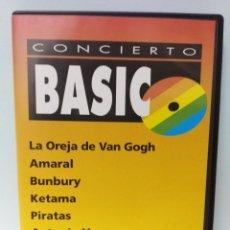 Vídeos y DVD Musicales: DVD BASICOS 40 PRINCIPALES BUNBURY AMARAL PIRATAS ANTONIO VEGA KETAMA. Lote 145021218