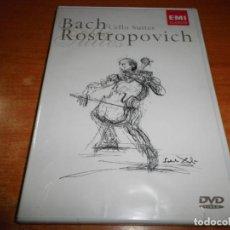 Vídeos y DVD Musicales: CELLO SUITES BACH ROSTROPOVICH DOBLE DVD PRECINTADO 2004 EU EMI GRABADO SALVADOR DALI . Lote 146414878