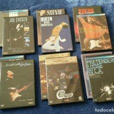 Vídeos y DVD Musicales: LOTE DE 12 DVD - CONCIERTOS MUSICA - QUEEN, ERIC CLAPTON, TINA TURNER ETC .... Lote 147029150