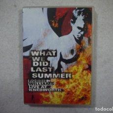 Vídeos y DVD Musicales: ROBBIE WILLIAMS - WHAT WE DID LAST SUMMER. LIVE AT KNEBWORTH - 2 DVDS . Lote 147051818