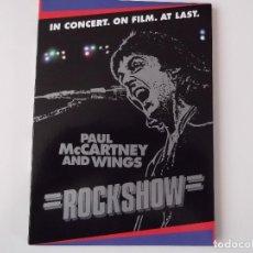 Vídeos y DVD Musicales: PAUL MCCARTNEY AND WINGS - ROCKSHOW (DE SU GIRA WINGS OVER AMERICA DE 1976). Lote 147089466