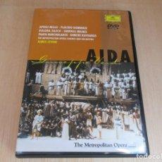 Vídeos y DVD Musicales: DVD AIDA APRILLE MILLLO.PLACIDO DOMINGO-DOLOR ZALCIK-SERRILL MILNES -PLATA BURCHULADZE. Lote 147611218