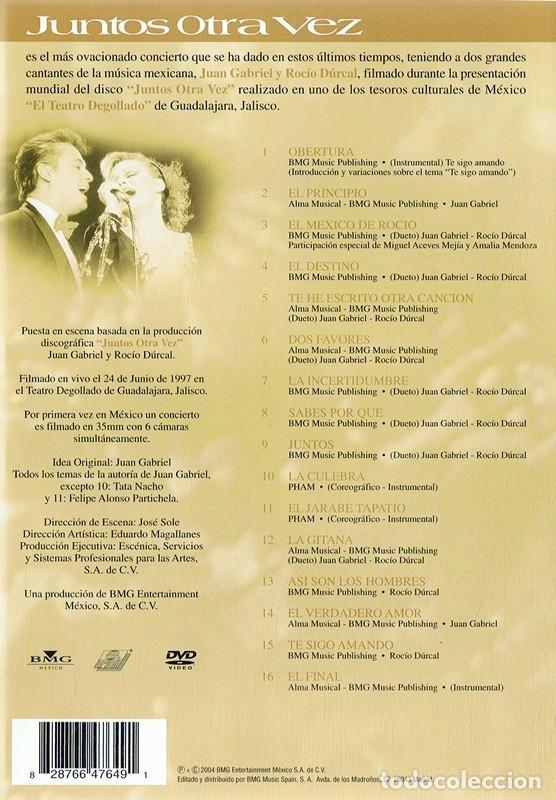Vídeos y DVD Musicales: JUNTOS OTRA VEZ JUAN GABRIEL & ROCÍO DÚRCAL - Foto 2 - 194264420