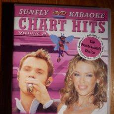 Vídeos y DVD Musicales: KARAOJE EN DVD - SUNFLY - CHART HITS VOL. 2 COMPATIBLE PLAYSTATION 2, XBOX - PROFESIONAL Y FAMILIAR. Lote 148694602
