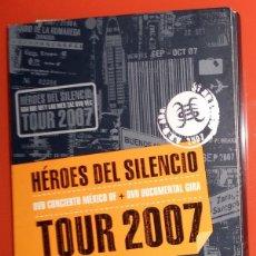 Vídeos y DVD Musicales: DVD CONCIERTO MEXICO DF DVD DOCUMENTAL GIRA HEROES DEL SILENCIO HDS TOUR 2007 BUNBURY DESCATALOGADO. Lote 148894314