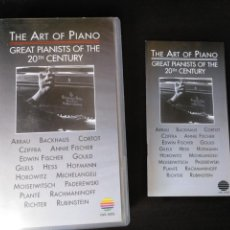 Vídeos y DVD Musicales: THE ART OF PIANO. GREAT PIANISTS OF THE 20TH CENTURY. Lote 149135033