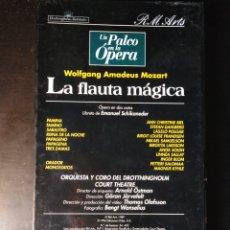 Vídeos y DVD Musicales: MOZART. LA FLAUTA MÁGICA. BIEL. DAHLBERG. POLGÁR. FRANDSEN. SAMUELSON. LARSSON. JÄRVEFELT. VHS. Lote 149285602
