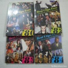 Vídeos e DVD Musicais: BEST CLIPS EVER. VIDEOCLIPS QUE MARCARON UNA EPOCA 80, 82, 83 Y 84 - LOTE DE 4 DVDS PRECINTADOS . Lote 149862378