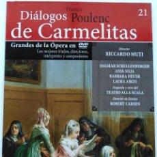 Vídeos y DVD Musicales: POULENC: DIÁLOGOS DE CARMELITAS. ROBERT CARSEN. RICCARDO MUTI.. Lote 151227658