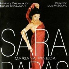 Vídeos y DVD Musicales: SARA BARAS MARIANA PINEDA SOBRE UNA IDEA DE FEDERICO GARCÍA LORCA-MANOLO SANLUCAR. Lote 152060134
