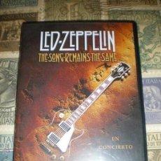 Vídeos y DVD Musicales: LED ZEPPELIN THE SONG REMAINS THE SAME EN CONCIERTO 1975 SWAN SONG EXCELENTE CONDICION. Lote 152869310