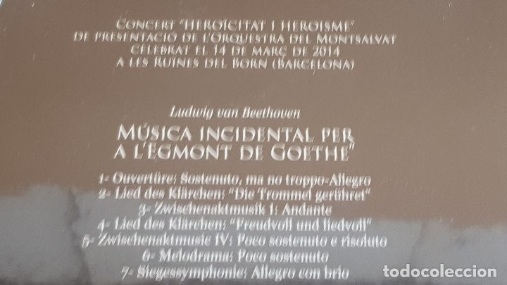 Vídeos y DVD Musicales: EGMONT. SIMFONIA HEROICA. ORQUESTRA DEL MONTSALVAT / CONCERT AL BORN / DVD - PRECINTADO. - Foto 2 - 251212740