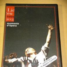 Vídeos y DVD Musicales: MOMENTS D´ÒPERA AL LICEU 1999 2003, DVD, CATALÁN, MOMENTOS DE OPERA LICEO, ERCOM D2. Lote 155399130