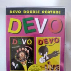 Vídeos y DVD Musicales: DEVO - DOUBLE FEATURE: THE COMPLETE TRUTH ABOUT DE-EVOLUTION + DEVO LIVE - 2 X DVD. Lote 155770678