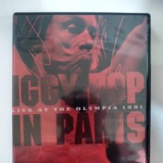 Vídeos y DVD Musicales: IGGY POP ‎– IN PARIS - LIVE AT THE OLYMPIA 1991 - DVD . Lote 155774666