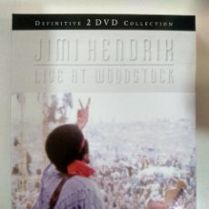Vídeos y DVD Musicales: JIMI HENDRIX - LIVE AT WOODSTOCK - DEFINITIVE COLLECTION - 2 X DVD. Lote 155776750