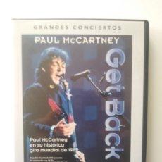 Vídeos y DVD Musicales: GRANDES CONCIERTOS:PAUL MCCARNEY.GET BACK.DVD.. Lote 156622581