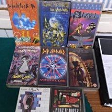 Vídeos y DVD Musicales: 8 VIDEOS VHS DE ROCK. Lote 156661153