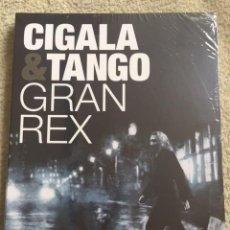 Vídeos y DVD Musicales: CIGALA TANGO DVD GRAN REX **NUEVO Y PRECINTADO** INCLUYE FOLLETO DE 24 PAG. Lote 156682462