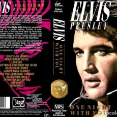 Vídeos y DVD Musicales: ELVIS PRESLEY - ONE NIGHT WITH YOU + THE LOST PERFORMANCES - 2 VHS BRAND NEW !. Lote 157986042