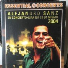 Vídeos y DVD Musicales: ALEJANDRO SANZ-EN CONCIERTO-GIRA NO ES LO MISMO 2004-DVD SIN USO. Lote 158130388