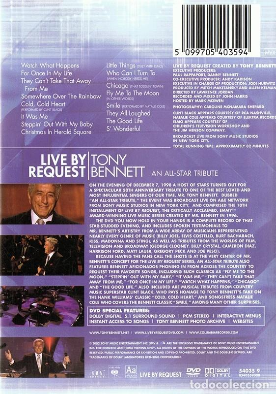 Vídeos y DVD Musicales: LIVE BY REQUEST TONY BENNETT - Foto 2 - 158323322