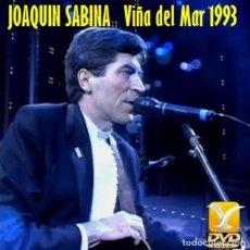 Vídeos y DVD Musicales: JOAQUÍN SABINA - FESTIVAL DE VIÑA DEL MAR, CHILE 1993 + EXTRAS (DVD). Lote 195235775