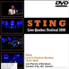 Vídeos y DVD Musicales: STING - FESTIVAL D'ETE, QUEBEC, CANADA - PLAINS OF ABRAHAM, 18 JULY 2009 (DVD). Lote 194724388