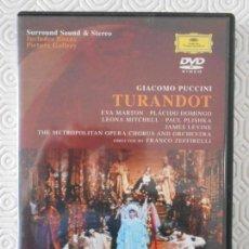 Vídeos y DVD Musicales: TURANDOT. GIACOMO PUCCINI. OPERA. EVA MARTON, PLACIDO DOMINGO, LEONA MITCHELL,PAUL PLISHKA. DIRIGE J. Lote 161257106
