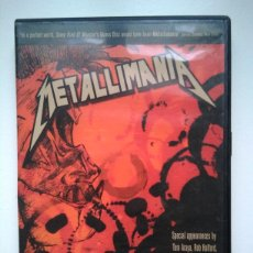 Vídeos y DVD Musicales: METALLIMANIA - METALLICA DOCUMENTAL - ROCK MOVIE - JAMES HETFIELD - LARS ULRICH - KIRK HAMMETT. Lote 161572906
