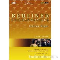 Vídeos y DVD Musicales: ITALIAN NIGHT - BERLINER PHILARMONIKER - CLAUDIO ABBADO. VERDI, BELLINI, ROSSINI, LINCKE.. Lote 161833794