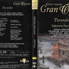 Vídeos y DVD Musicales: TURANDOT - GIACOMO PUCCINI - EDICIÓN ESPECIAL GRAN ÓPERA. Lote 161848046