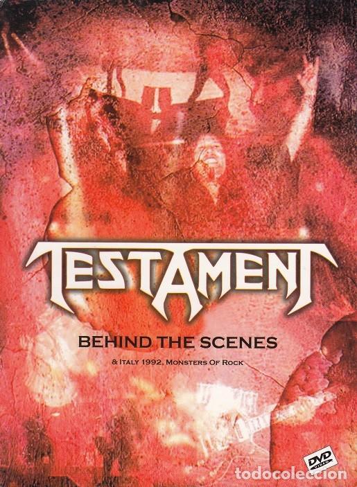 TESTAMENT - BEHIND THE SCENES & ITALY MONSTERS OF ROCK 1992 - DVD REGION 0 # (Música - Videos y DVD Musicales)