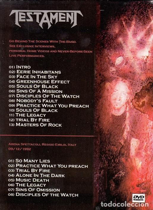 Vídeos y DVD Musicales: TESTAMENT - BEHIND THE SCENES & ITALY MONSTERS OF ROCK 1992 - DVD REGION 0 # - Foto 2 - 163449570