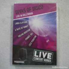 Vídeos y DVD Musicales: DIVAS OF DISCO. LIVE IN HOLLYWOOD - LIVE CONCERT SERIES - DVD PRECINTADO. Lote 165200890