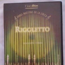 Vídeos y DVD Musicales: DVD MUSICAL / OBRAS MAESTRAS DE LA LIRICA / RIGOLETTO. Lote 166828914