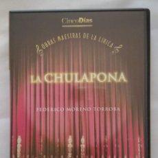 Vídeos y DVD Musicales: DVD MUSICAL / OBRAS MAESTRAS DE LA LIRICA / LA CHULAPONA. Lote 166829002
