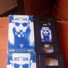 Vídeos y DVD Musicales: HITZ EGIN - BAP!!, NEGU GORRIAK, SU TA GAR, ETC..... VOLUMEN 1 Y 2 (DOS VHS). Lote 167164828
