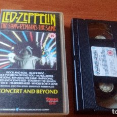 Vídeos y DVD Musicales: LED ZEPPELIN - THE SONG REMAINS THE SAME - VHS . Lote 167166324