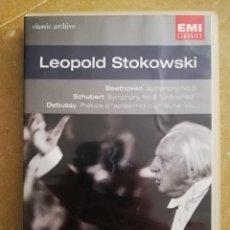 Vídeos y DVD Musicales: LEOPOLD STOKOWSKI (BEETHOVEN / SCHUBERT / DEBUSSY / WAGNER / DUKAS) DVD. Lote 168339684