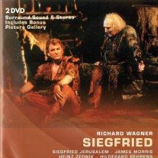Vídeos y DVD Musicales: RICHARD WAGNER SIEGFRIED - LEVINE ( 2 DISCOS). Lote 168573028