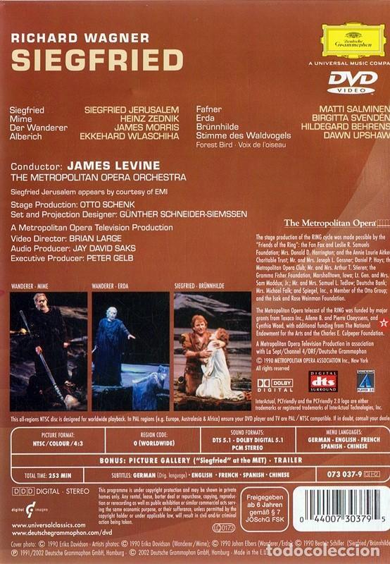 Vídeos y DVD Musicales: RICHARD WAGNER SIEGFRIED - LEVINE ( 2 DISCOS) - Foto 2 - 168573028