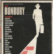 Vídeos y DVD Musicales: DVD BUNBURY . POR QUE LAS COSAS CAMBIAN. HEROES DEL SILENCIO. 101 MINUTOS 2011 DOCUMENTAL. Lote 169830812