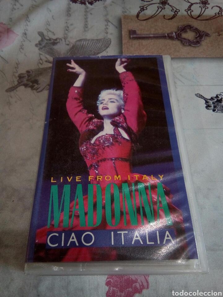 VHS MADONNA /CIAO ITALIA (Música - Videos y DVD Musicales)